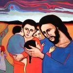 jesus and tge children