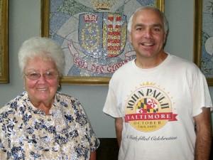 Sister Nancy Daweson and Tony Magliano