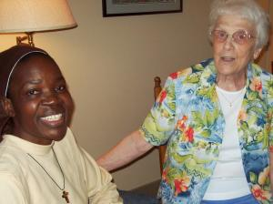 Sister Rosemary with  Sister Marilyn Hoover