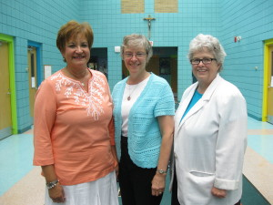 From left are Mary Ann Critell, Sister Mary Alyce Koval, and Sister Mary McCormick