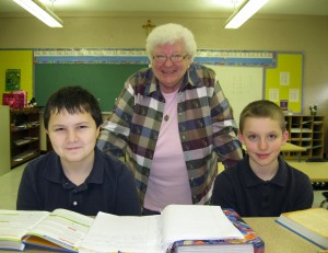 Sr. Carole tutoring
