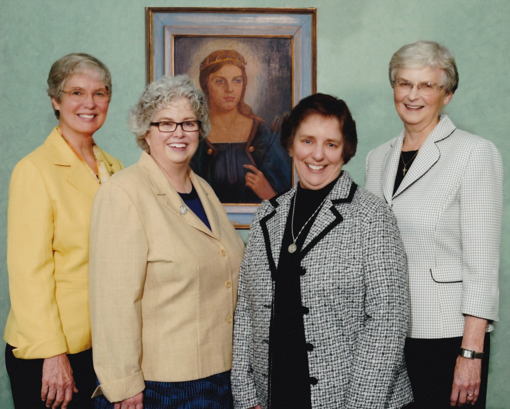 From left to right: Sisters Norma Raupple, Mary McCormick [General Superior], Regina Rogers and Patricia McNicholas